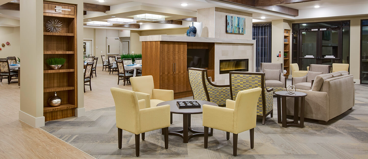 Expertly-crafted lounge and dining room furniture for memory care and dementia care patients.