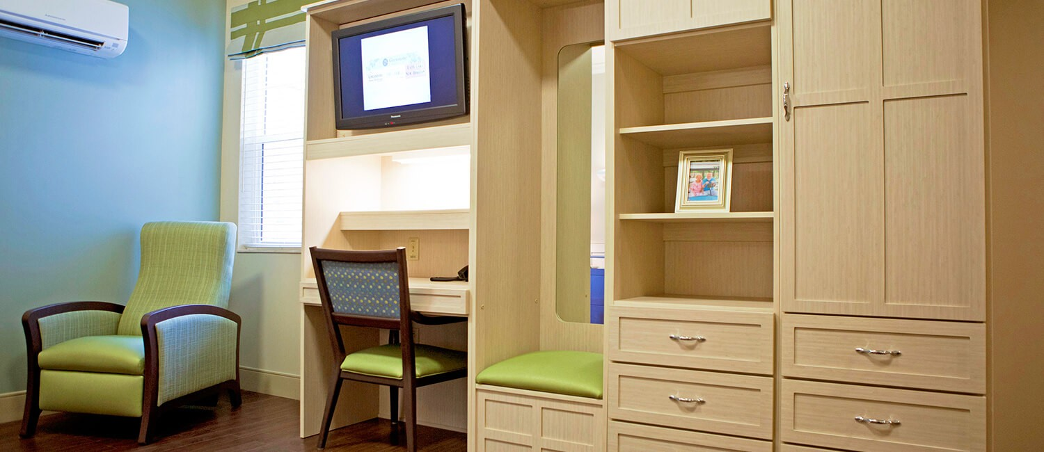 Patient room furniture, seating, and casegoods for patients of short-term rehabilitation environments.