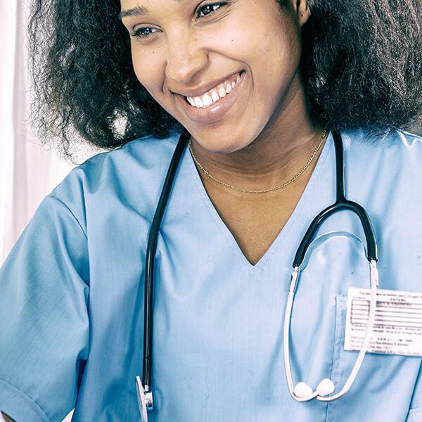 Nurse smiling